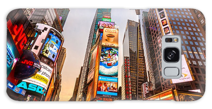 Angle Galaxy S8 Case featuring the photograph New York City - Times Square by Luciano Mortula