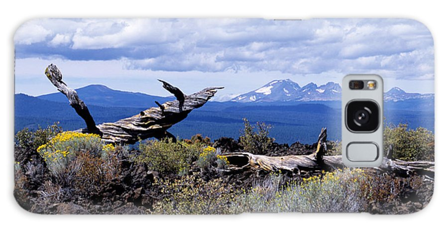 Newberry Galaxy S8 Case featuring the photograph Newberry Lava Beds by Sharon Elliott