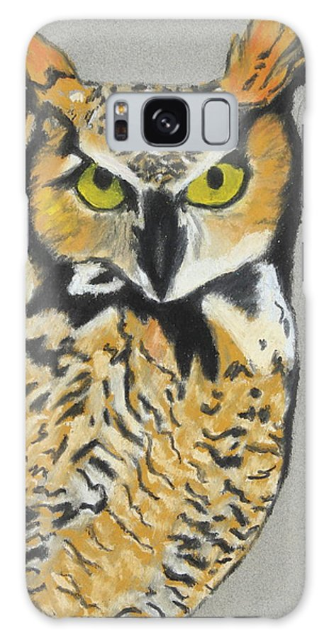 Owl Galaxy S8 Case featuring the painting Night Owl by Jeanne Fischer