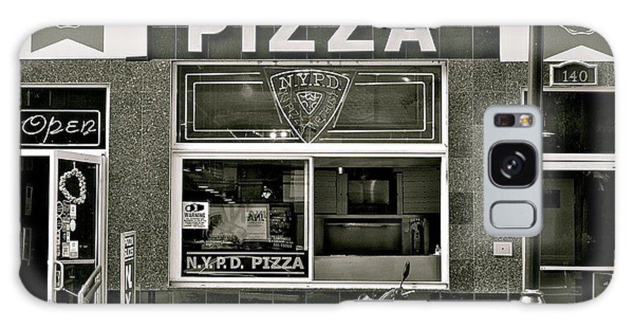 N.y.p.d. Galaxy S8 Case featuring the photograph N.y.p.d. Pizza by Ira Shander