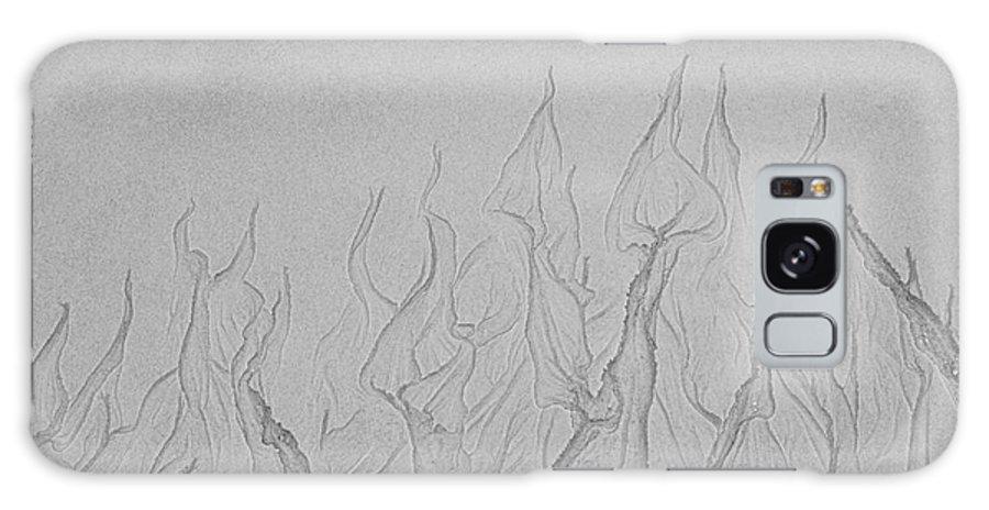 Iris Holzer Richardson Galaxy S8 Case featuring the photograph Ocean Sand Art Hearts by Iris Richardson