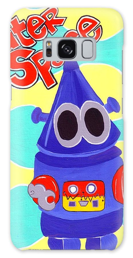 Robot. Robotman. Space Galaxy Case featuring the painting Outer Space by Lynnda Rakos