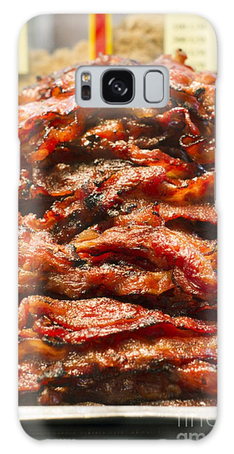 Bakkwa Galaxy S8 Case featuring the photograph Pork Jerky-chinese Style Dried Meat Pieces by Tuimages