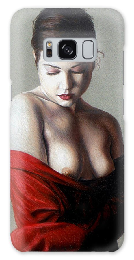 Nude Galaxy Case featuring the painting Rebecca by Joseph Ogle