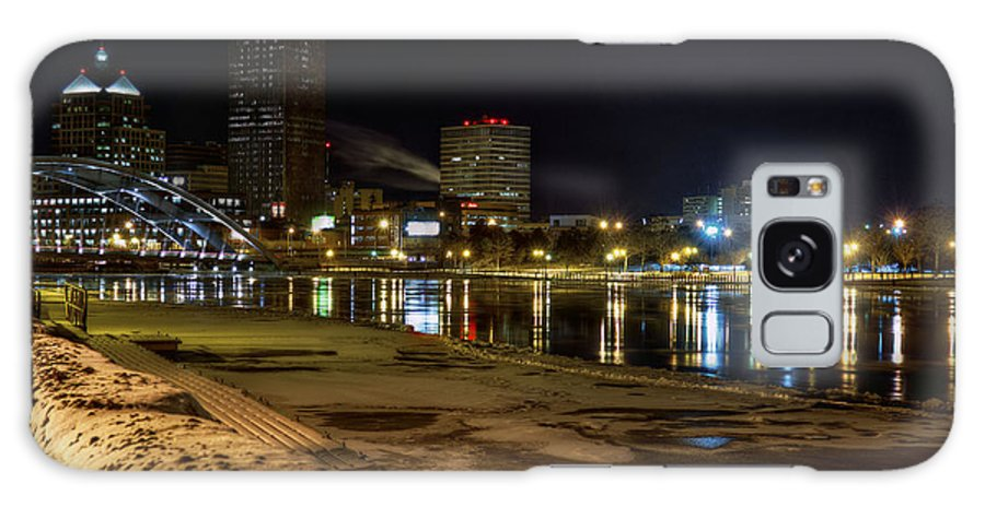 City Galaxy S8 Case featuring the photograph Rochester At Night by Tim Buisman