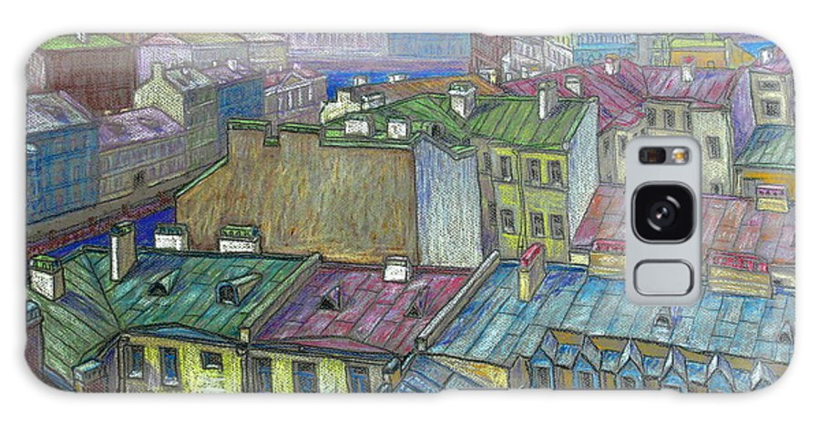 Roof Galaxy S8 Case featuring the drawing Roofs Of St. Petersburg by Anatoliy Sivkov
