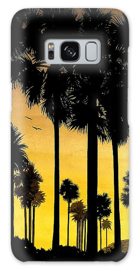 San Diego Sunset Galaxy Case featuring the painting San Diego Sunset by Larry Lehman