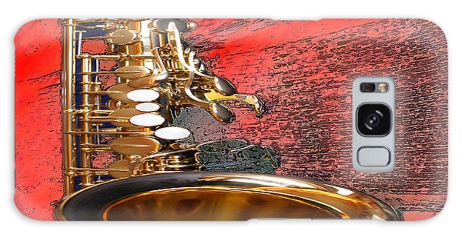 Music Galaxy S8 Case featuring the digital art Sax by Philip Dammen