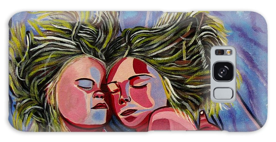 Paintings Of Children Galaxy S8 Case featuring the painting Sisters by Sandra Marie Adams
