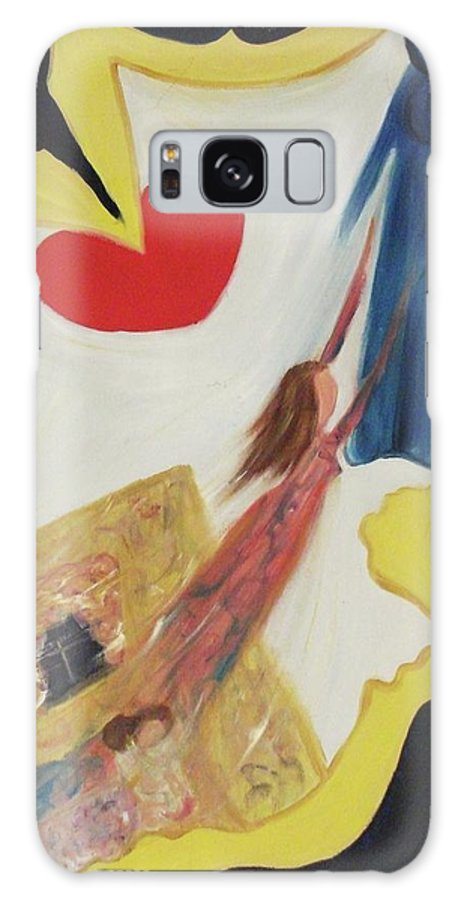 Angel Galaxy S8 Case featuring the painting Spiritual Experience by Suzanne Marie Leclair