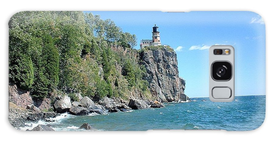 Lighthouse Galaxy S8 Case featuring the photograph Upon This Rock by Bonfire Photography