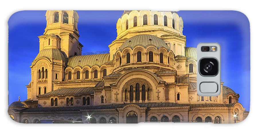 Architecture Galaxy S8 Case featuring the photograph St Alexander Nevsky Cathedral At Dusk Sofia Bulgaria by Ivan Pendjakov