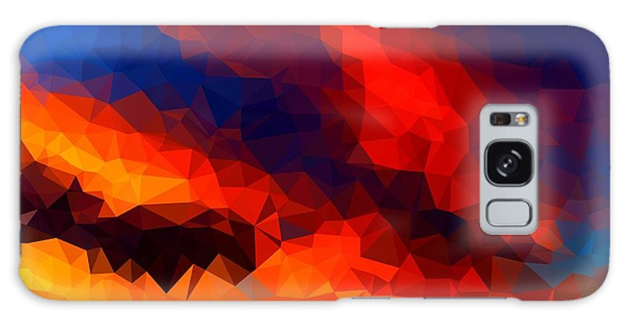 Sunset Galaxy S8 Case featuring the painting Stained Glass Sunset by Bruce Nutting