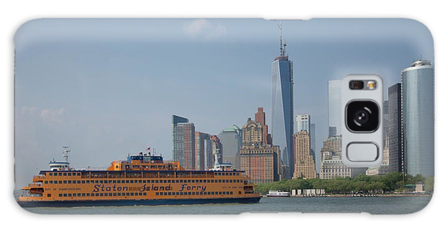 Boats Galaxy S8 Case featuring the digital art Staten Island Ferry by Carol Ailles