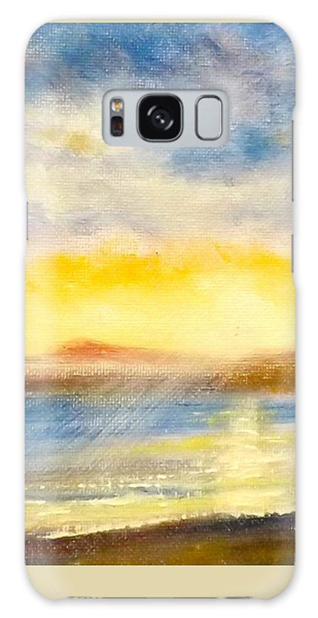 Landscapes Galaxy S8 Case featuring the painting Sunset by Gina De Gorna