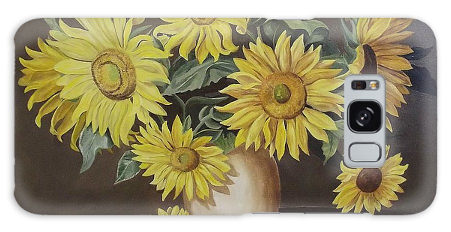 Flowers Galaxy S8 Case featuring the painting Sunshine And Sunflowers by Wanda Dansereau
