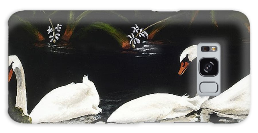 Swan Galaxy S8 Case featuring the painting Swans IIi by Jan Reid