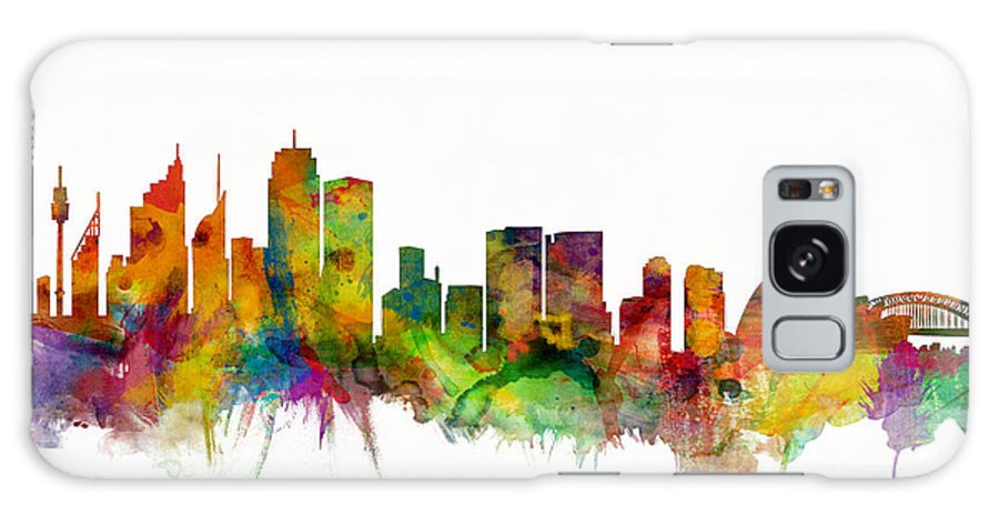Sydney Galaxy S8 Case featuring the digital art Sydney Australia Skyline by Michael Tompsett