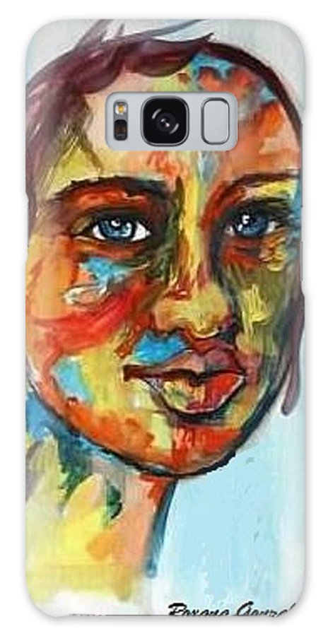 Multi-color Galaxy S8 Case featuring the painting Tabu by Roxana Gonzales