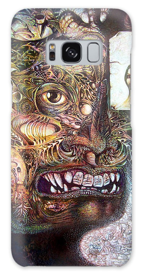 Mythology Galaxy S8 Case featuring the painting The Beast Of Babylon by Otto Rapp
