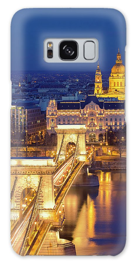 Viewpoint Galaxy Case featuring the photograph The Chain Bridge In Budapest by Ultraforma