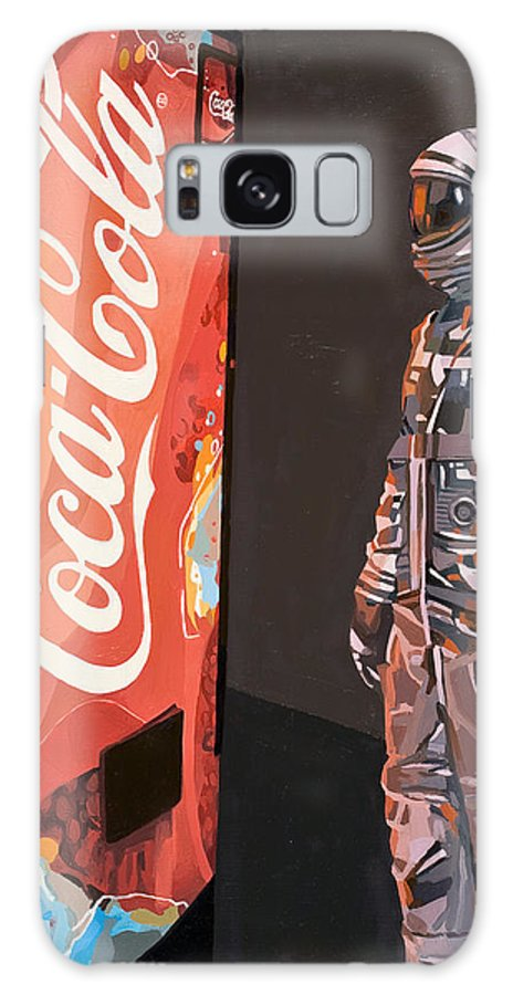 Astronaut Galaxy S8 Case featuring the painting The Coke Machine by Scott Listfield