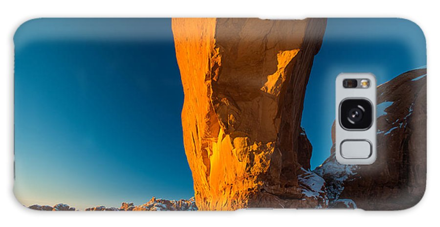 Arch North Window Winter Snow Arches National Park Landscape Galaxy S8 Case featuring the photograph The North Window Arch by Troylene Owen
