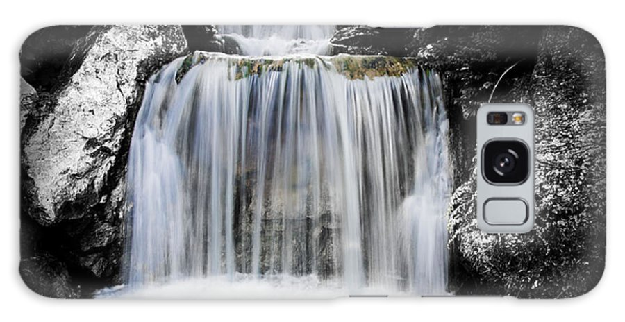 Landscape Galaxy S8 Case featuring the photograph 2 Tone Waterfall by Matthew Sawicki