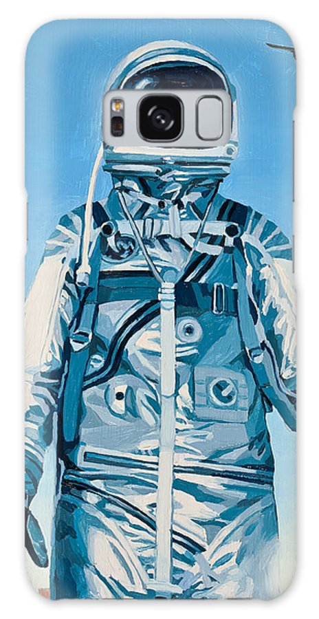 Astronaut Galaxy S8 Case featuring the painting Under The Flight Path by Scott Listfield