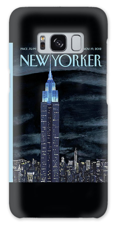 New York City Galaxy S8 Case featuring the painting New Yorker November 19th, 2012 by Mark Ulriksen