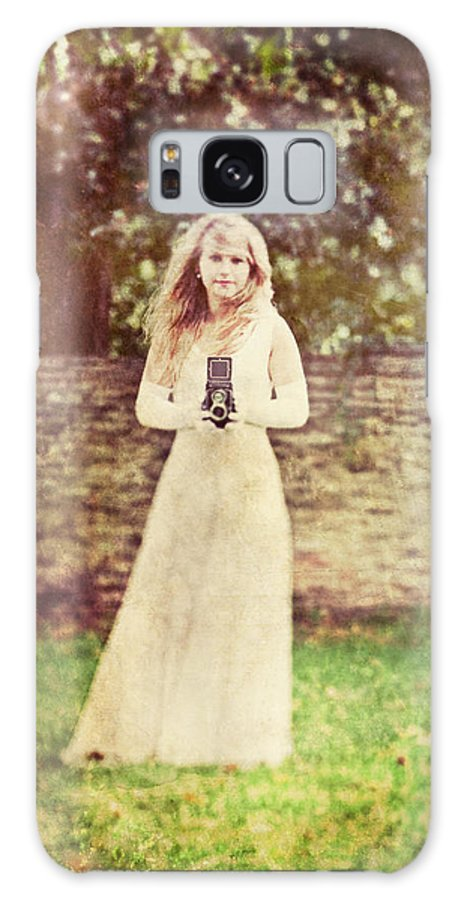 Female Galaxy S8 Case featuring the photograph Vintage Camera by Innershadows Photography