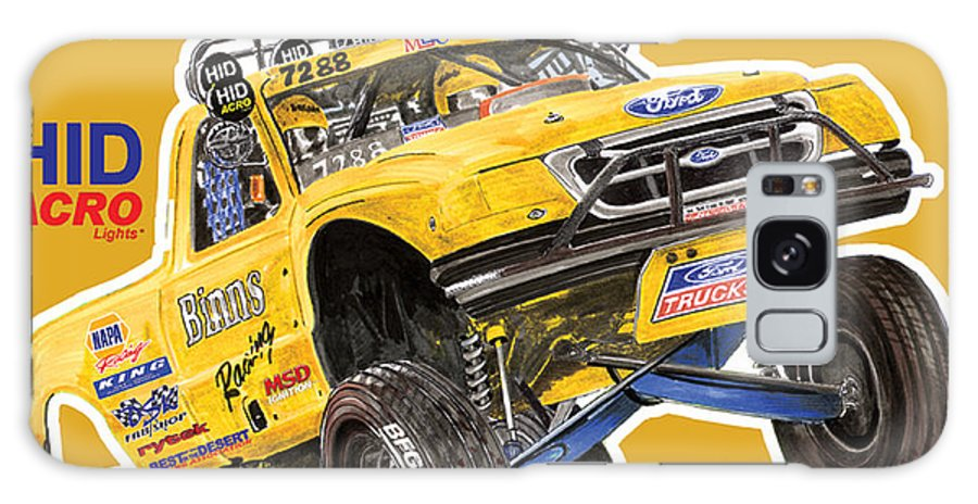 Event Posters Galaxy S8 Case featuring the painting 2008 Ford F-150 Racing Poster by Jack Pumphrey