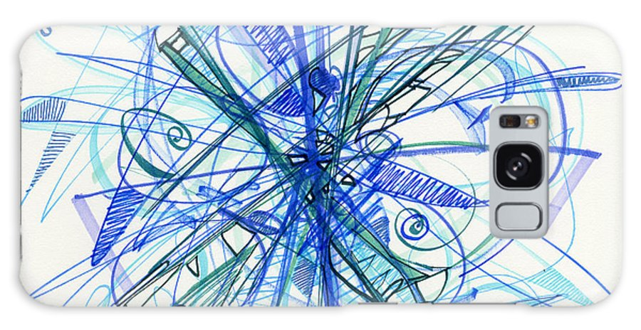 Abstract Drawing Galaxy S8 Case featuring the drawing 2010 Abstract Drawing 21 by Lynne Taetzsch