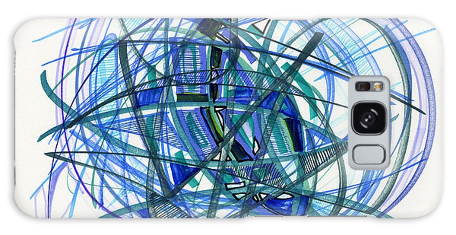 Abstract Drawing Galaxy S8 Case featuring the drawing 2010 Abstract Drawing 22 by Lynne Taetzsch