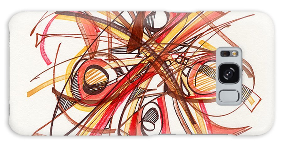 Abstract Drawing Galaxy S8 Case featuring the drawing 2010 Abstract Drawing 23 by Lynne Taetzsch