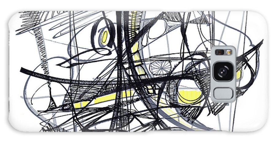 Abstract Drawing Galaxy S8 Case featuring the drawing 2010 Abstract Drawing 27 by Lynne Taetzsch