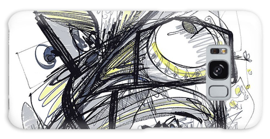 Abstract Drawing Galaxy S8 Case featuring the drawing 2010 Abstract Drawing 28 by Lynne Taetzsch