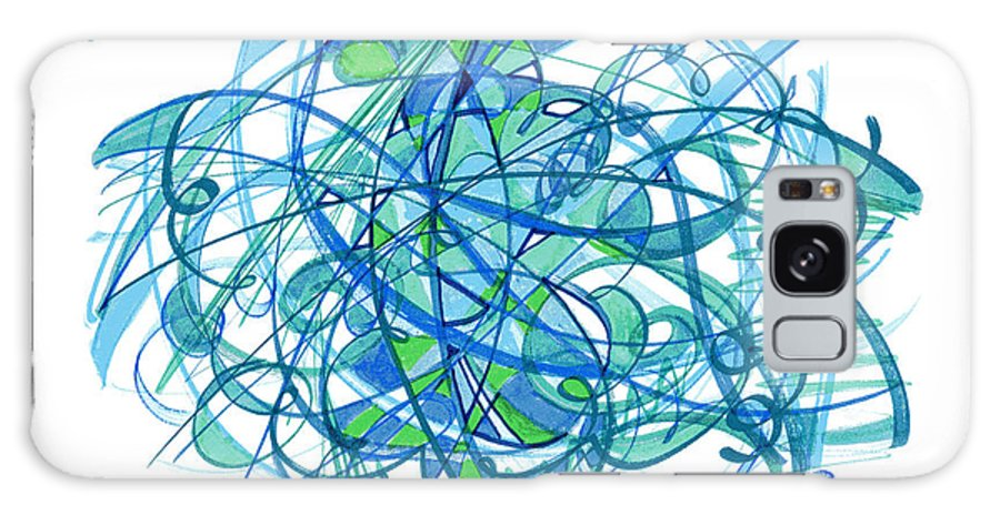 Abstract Drawing Galaxy S8 Case featuring the drawing 2010 Abstract Drawing 30 by Lynne Taetzsch