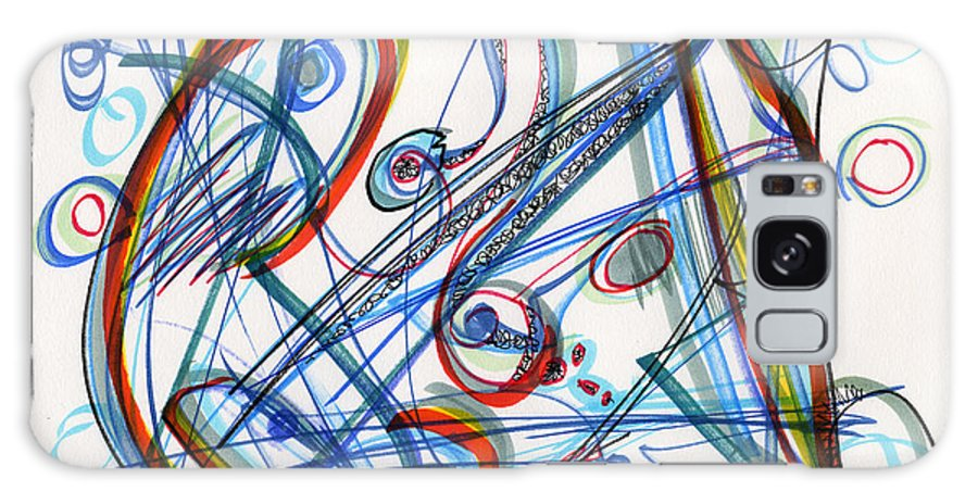 Abstract Galaxy S8 Case featuring the drawing 2013 Abstract Drawing #12 by Lynne Taetzsch