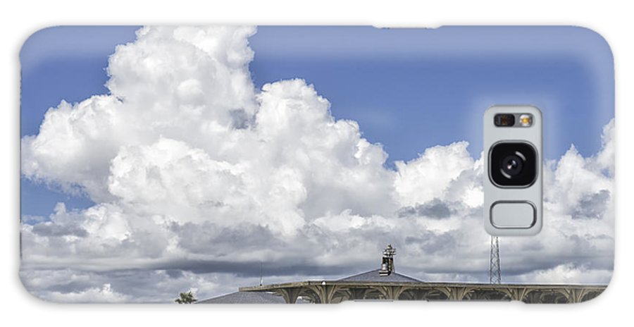 Blue Sky Galaxy S8 Case featuring the photograph 201409090-032 Cameron-county-park-pavilion 2x3 by Alan Tonnesen