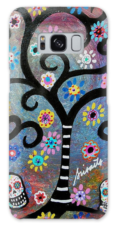 Day Of The Dead Galaxy S8 Case featuring the painting Dia De Los Muertos by Pristine Cartera Turkus