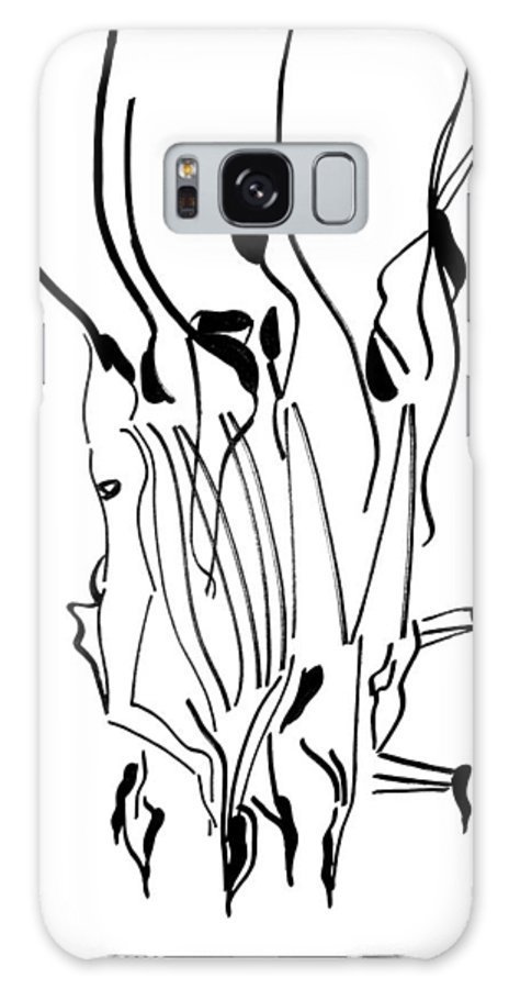 Jesus Galaxy S8 Case featuring the drawing Dinka Dance - South Sudan by Gloria Ssali