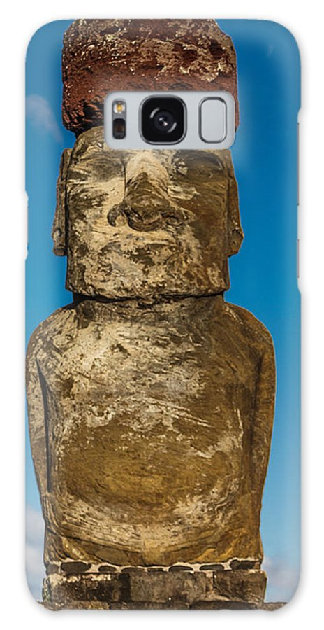 Ancient Galaxy S8 Case featuring the photograph Easter Island Moai by Ben Adkison