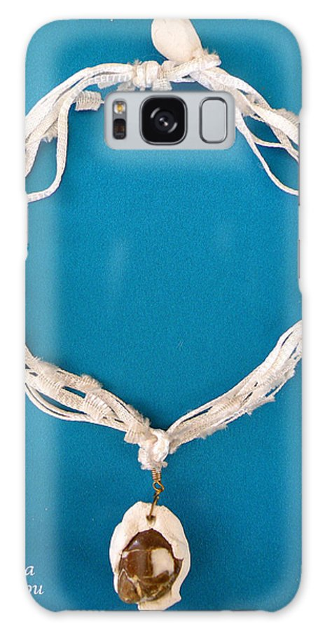 Augusta Stylianou Galaxy S8 Case featuring the jewelry Aphrodite Gamelioi Necklace by Augusta Stylianou