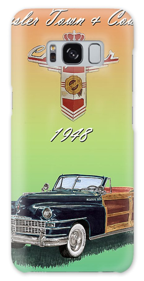 Framed Posters Of Chrysler Town & Country Convertibles.images Of 1941 Plymouth Woodies. Framed Photography Art Of Woody�s. Prints Of Cool Wood-paneled Station Wagons. Wrecked 1946 Ford Woody�s. Prints Of 1941 Plymouth Woodies. Prints Of 1941 Chrysler Town & Country Convertibles. Prints Of 1948 Ford Sportsmen Convertibles. Prints Of 1950 Ford Woody�s. Galaxy S8 Case featuring the painting 1948 Chrysler Town And Country by Jack Pumphrey