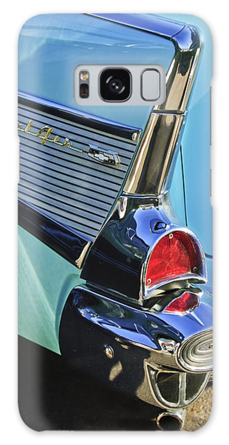 1957 Chevrolet Belair Galaxy S8 Case featuring the photograph 1957 Chevrolet Belair Taillight by Jill Reger