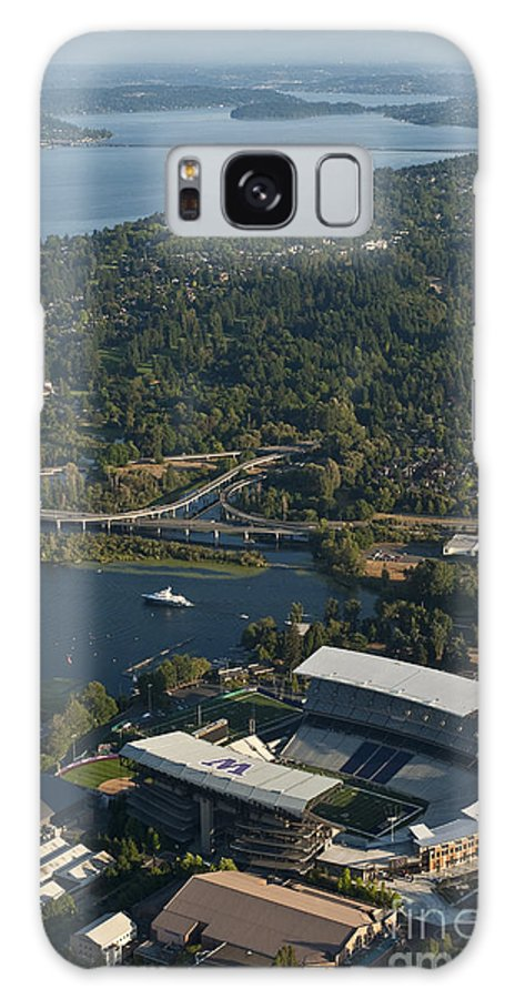 Husky Stadium Galaxy S8 Case featuring the photograph Aerial View Of The New Husky Stadium by Jim Corwin