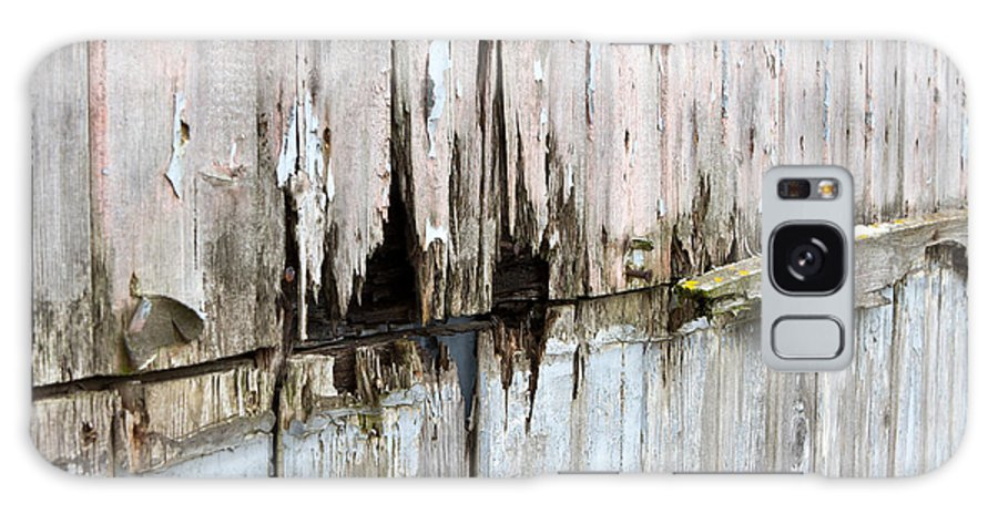Abstract Galaxy S8 Case featuring the photograph Battered Wooden Wall by Fizzy Image