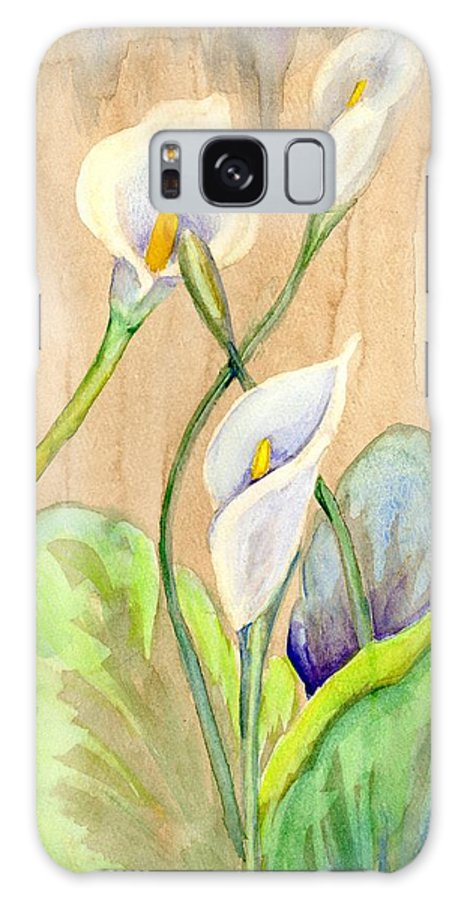 Calla Lilies Galaxy S8 Case featuring the painting 3 Calla Lilies by Diana Cardosi-Bussone