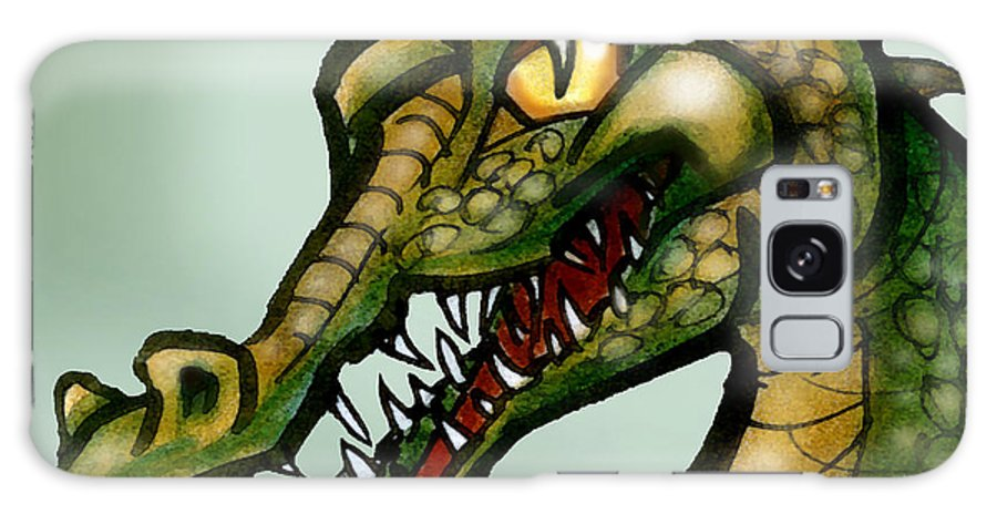 Crocodile Galaxy S8 Case featuring the painting Crocodile by Kevin Middleton